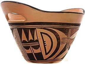 Vintage Hopi Tewa Pottery Double Handled Polychrome Design 0064