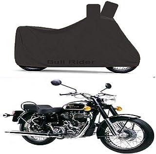 Bull Rider Two Wheeler Cover for Royal Enfield Bullet 350 (Black)
