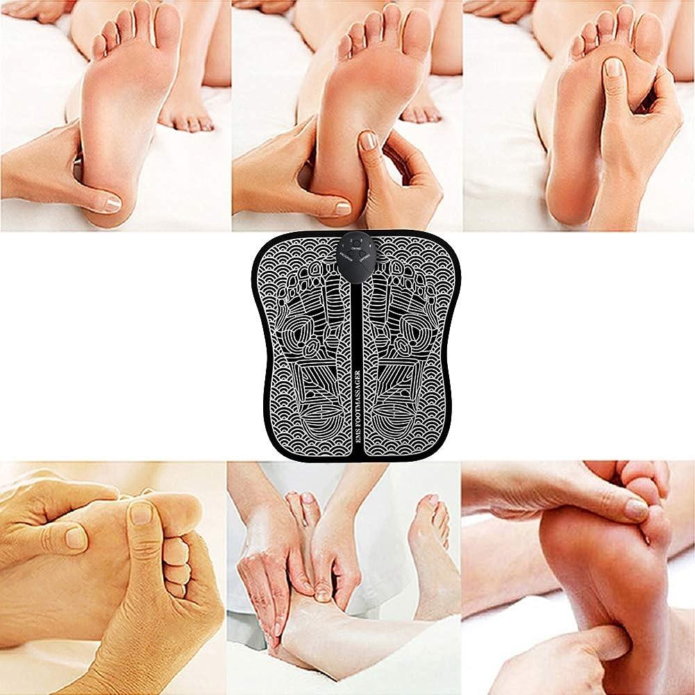 にぎやか追放する洗剤痛みを和らげる血液循環のためのEMSフットマッサージャーパッドマット痛みを伴う線維筋痛症