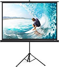 TaoTronics Projector Screen with Stand, TT-HP020 Indoor Outdoor Movie Projection Screen 4K HD with Wrinkle-Free Design (Easy to Clean, 1.1Gain, 160° Viewing Angle & Includes A Carry Bag)