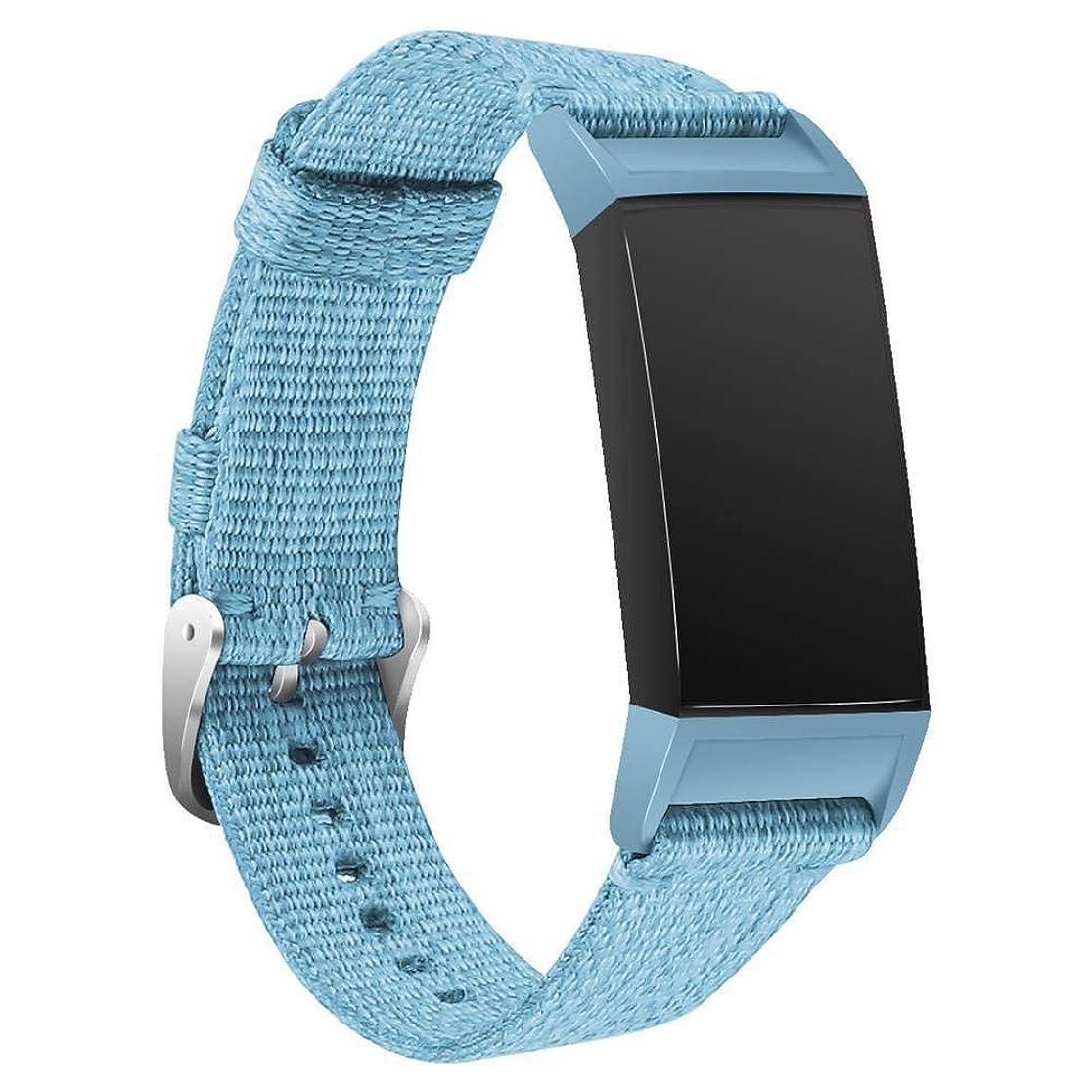リングレット絶縁する無一文Esolom for Fitbit charge 3 バンド 交換用バンド 調整可能 ナイロン デニム交換バンド fitbit charge3に対応 フィットビットチャージ3 交換ベルト 多色選択