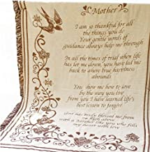 Manual 46 X 60-Inch Mother's Day Fringed 2.5-Layer Throw, Mother Poem