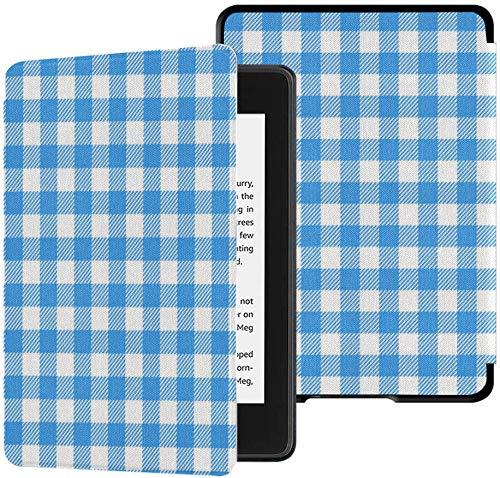 Gloednieuwe Kindle Paperwhite Waterbestendige stoffen hoes (10e generatie, uitgave 2018), pastel naadloos patroon Blauw Italiaans tafelkleed Vector tablethoes