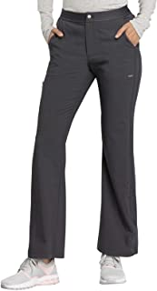 Cherokee Statement CK060 Women's Natural Rise Flare Leg Pant Black L