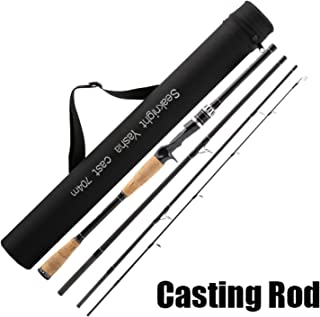 Fishing Rod 2.1M 2.4M 2.7M 4 Section M Power Carbon Fiber Spinning/Casting Travel Rod 10-30g Fishing Tackle