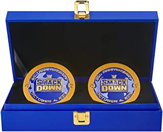 WWE Smackdown 20th Anniversary Championship Replica Side Plate Box Set