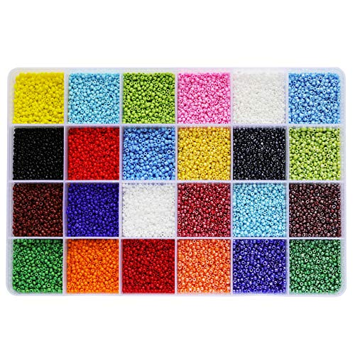 100gram + Storage Box 12//0 Glass Seed Beads silver lined 1.5mm 18000pcs