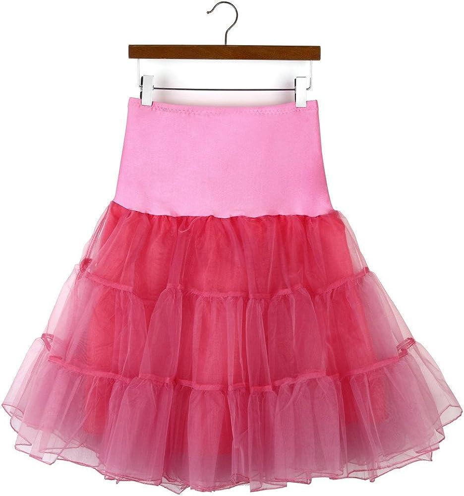 TUSANG Womens Casual High Waist Pleated Short Skirt Adult Tutu Dancing Skirt Wine