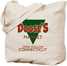 CafePress Dooses Market Gilmore Logo Natural Canvas Tote Bag, Reusable Shopping Bag