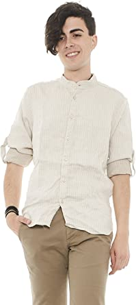 Outfit - Camisa casual - Manga larga - para hombre beige ...