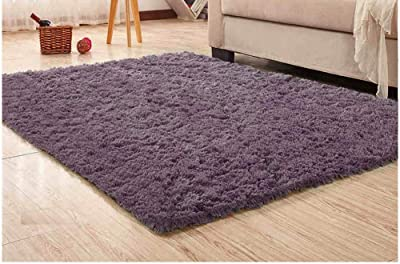 Xelparuc Super Soft Modern Shag Area Rugs Fluffy Living Room Carpet Comfy Bedroom Home Decorate Floor