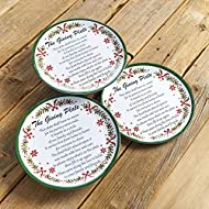 Melamine Giving Plates with Painted Garland Trim - Set of 3