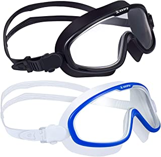 2 Pack Anti-Fog Swim Goggles for Adult Men Women Youth with Soft Silicone Gasket