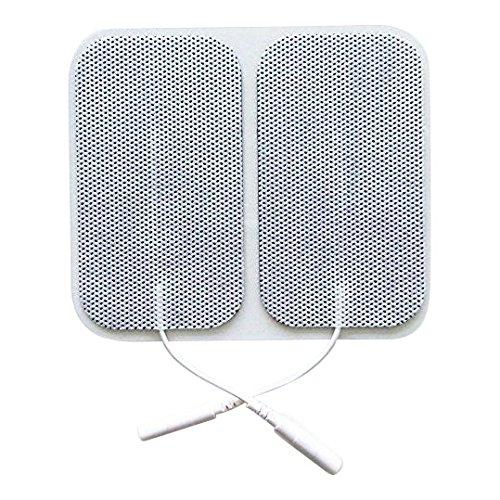 20 Stück selbstklebende Elektroden von der Marke ZEN-QI, 50x90 mm. Wiederverwendbar. Für TENS TIMS EMS Reizstrom-Geräte mit 2 mm-Stecker-Anschluss.
