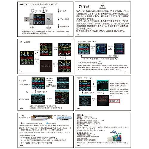 AVHzYUSBテスター電流電圧テスターチェッカークイックバッテリー充電器検出器DC6.0000A26.0000V充電器容量テスターPPSトリガー急速充電PD/QCに適応日本語オペレーティングシステム日本語説明書付きCSVファイルを出力するkotomipremium(CT-2(CNCアルミ合金ケーシング))