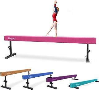 FBSPORT 8ft Adjustable Balance Beam: High and Low Floor Beam Gymnastics Equipment for Kids/Adults,Gymnastics Beam for Trai...