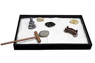Nature's Mark, Mini Meditation Zen Garden Table Décor Kit with Accessories (8Lx5W Rectangle A)