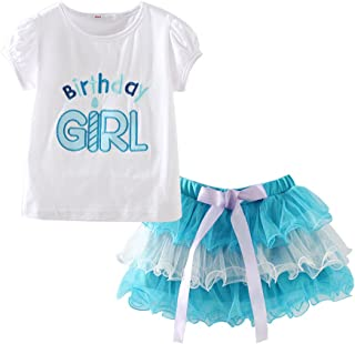 LittleSpring Cute Girls Birthday Clothes Sets