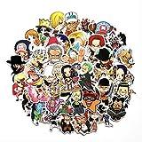 HONGC Pegatinas de Anime de una Pieza Luffy para Coche, portátil, Mochila de PVC, calcomanía para el hogar, Almohadilla para Bicicleta, calcomanía Impermeable, 60 unids/Set