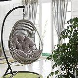 abbcoert cuscini per sedia a uovo cuscino per sedia a dondolo cuscino per sedia a dondolo spesso per il tempo libero cuscino per sedia sedia a dondolo per interni/esterni (solo cuscino) grigio