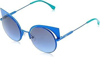 Fendi Eyeshine Blue Mirror Cat Eye Ladies Sunglasses