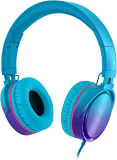 Rockpapa Grade Over Ear Headphones Foldable with Mic, Adjustable Headband Headsets for CellPhones Tablets Computers PC MP3...