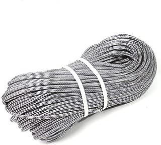 KTYXDE Climbing Rope, Electrostatic Rope, Speed Drop Rope, Aerial Work Rope, Diameter 10mm, White Black Climbing Rope (Size : 80M)
