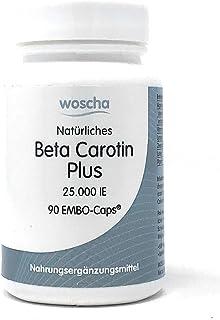 woscha Beta natürliches Beta Carotin Plus 25.000 IE 90 K-CAPS 22g vegan