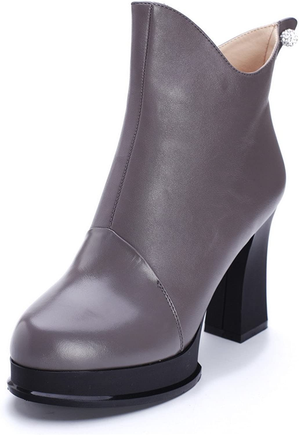 ZQ@QXChristmas gift Europe leather boots with with with