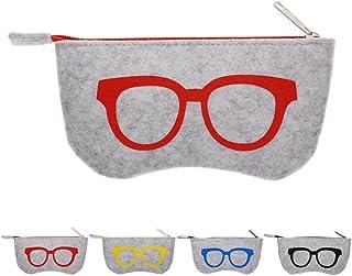77c8b77396 Calistouk niceyo suave cremallera bolsa de maquillaje para gafas, gafas de  sol de almacenamiento funda