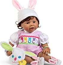 Paradise Galleries Reborn Toddler with Magnetic Pacifier, Hippity Hop Hailey, 21 inch Easter Doll, FlexTouch Silicone Vinyl, 9-Piece Doll Set