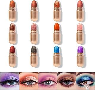 KISSIO Eyeshadow Stick,Eyeshadow Stick Set 12 Colors,Cream to Powder Waterproof Eyeshadow Stick,Eyeshadow C...