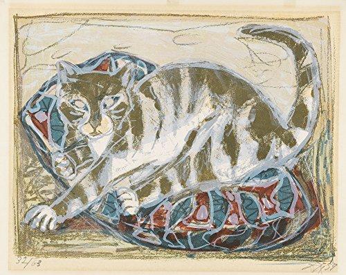 Berkin Arts Otto Dix Giclee Kunstdruckpapier Kunstdruck Kunstwerke Gemälde Reproduktion Poster Drucken(Katzen 1959)