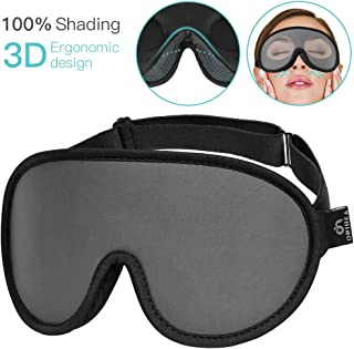 Upgraded Sleep Mask,OriHea Comfortable & Super Soft Sleeping Mask for Women Men Kids,100% Blocking Light,Adjustable Washable 3D Eye Mask for Sleeping Blindfold Mask for Travel