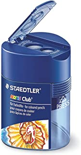 STAEDTLER Noris Club Double-Hole Triangular Tub Sharpener 512 128 dark blue