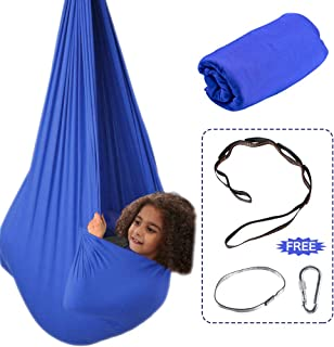 Aokitec Therapy Swing for Kids with Special Needs (Hardware Included) Snuggle Swing Cuddle Kids Hammock Indoor Swing Adjustable -Sensory Swing for Children Autism,  ADHD,  Aspergers,  Sensory Integration