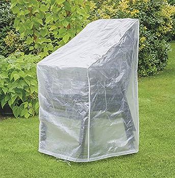 Happy People 79262 Housse de Protection pour chaises empilables Transparent