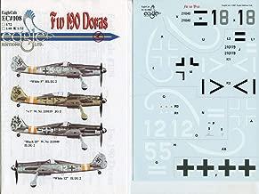 EagleCals Decals 1:32 FW-190 FW190 Doras Decal Sheet #32-108