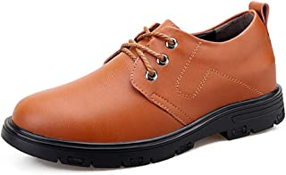 Ranipobo Formal Shoes Lace Up Style OX Leather Outsole Height Increasing Insole for Men (Color : Brown, Size : 7 UK)