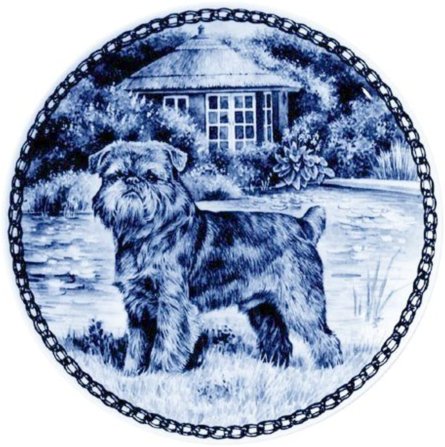 Brussels Griffon   Lekven Design Dog Plate 19.5 cm  7.61 inches Made in Denmark NEW with certificate of origin PLATE  7330