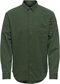 Only & Sons Onsbryce Life LS Reg Organic Shirt Noos Camisa para Hombre