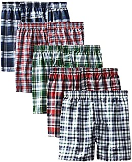 Hanes Men's 5-Pack Tartan Boxer with Inside Exposed...
