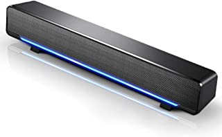 Docooler Mini Lautsprecher, tragbarer USB Soundbar, Heimkino, Stereo Subwoofer, leistungsstarker Musik Player mit 3,5 mm Audio Stecker für PC, Laptop, TV, MP3, MP4