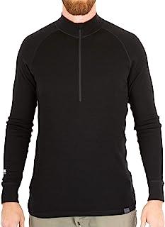 MERIWOOL Men's Merino Wool Midweight Half Zip Top - Choose Your Size & Color