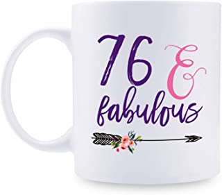 76th Birthday Gifts for Women - 1943 Birthday Gifts for Women, 76 Years Old Birthday Gifts Coffee Mug for Mom, Wife, Friend, Sister, Her, Colleague, Coworker - 11oz