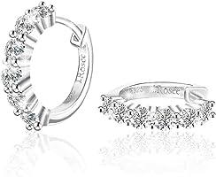 Swarovski Elements 925 Sterling Silver Crystal Studs Earrings for Females Women Ladies Girl friend Gift JRosee Jewelry JR104