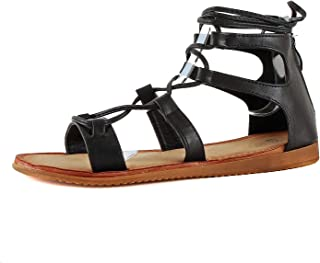 Guilty Heart Womens Strappy Tied Back Gladiator Sandals