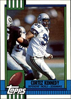 1990 Topps Traded #44T Cortez Kennedy Seahawks NFL Football Card NM-MT