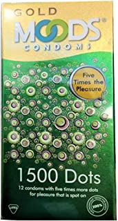 Moods Gold 1500 Dots Condoms 12's