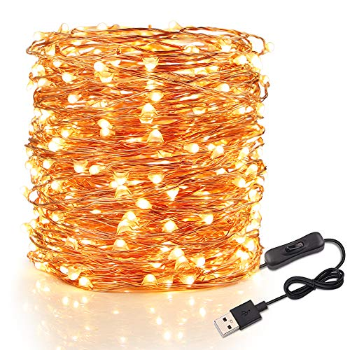 Fairy Lights LED String Lights - Speclux 20M 200 LEDs USB String Lights Copper Wire Lights Waterproof, Decorative Starry Fairy Lights for Indoor Outdoor Garden Patio Wedding Christmas